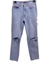 Heron Preston Jean large - Bleu