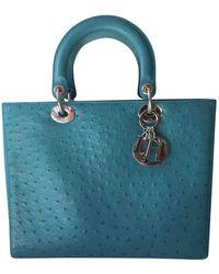 Dior Lady Vogelstrauß Handtaschen - Blau
