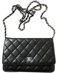 Chanel Wallet on Chain Leder Cross body tashe - Schwarz