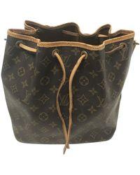 Louis Vuitton Borsa a mano in tela marrone Noé