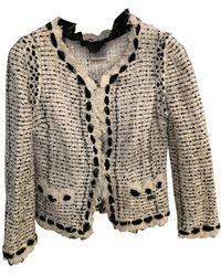 Chanel Vest en Synthétique Blanc