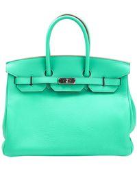 Hermès Birkin 35 Leder Handtaschen - Grün