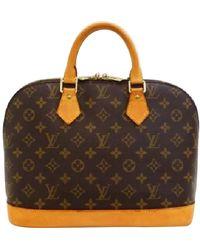 Louis Vuitton Alma Leinen Handtaschen - Mehrfarbig