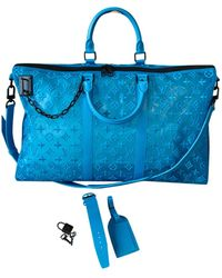 Louis Vuitton Bolso de viaje Keepall Triangle - Azul