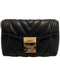 MCM Patricia Leather Crossbody Bag - Black