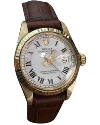 Rolex Lady Datejust 26mm Gelbgold Uhren - Weiß