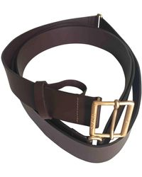Chanel Leather Belt - Brown
