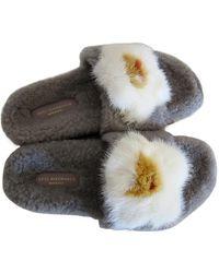 Anya Hindmarch Shearling Sandals - Grey