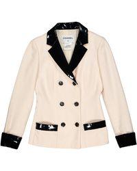 Chanel Ecru Wool Jacket - Natural