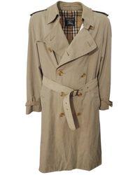 Burberry Beige Cotton Coat - Natural