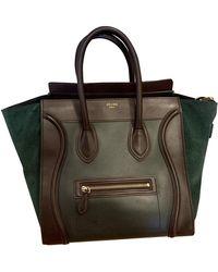 Céline Luggage Leder Handtaschen - Grün