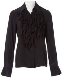 Givenchy Black Silk Top