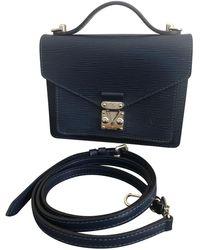 Louis Vuitton Monceau Leder Cross body tashe - Blau
