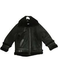 The Kooples Fall Winter 2019 Leather Coat - Black