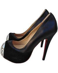 Christian Louboutin Daffodile Leather Heels - Black