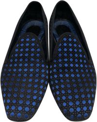 Dior - Navy Polyester Flats - Lyst