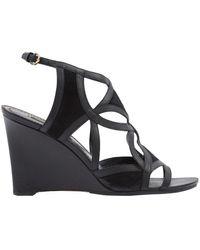 Louis Vuitton Sandalias en cuero negro
