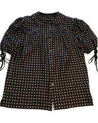 Louis Vuitton Black Silk Top
