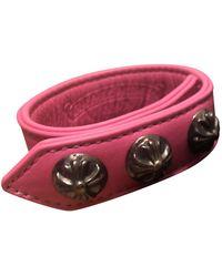 Chrome Hearts Silver Bracelet - Pink