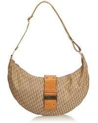 Dior - Pre-owned Vintage Brown Cloth Handbag - Lyst