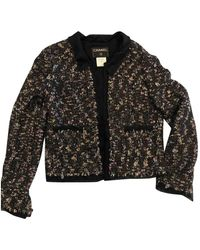 Chanel - Black Wool Jacket - Lyst