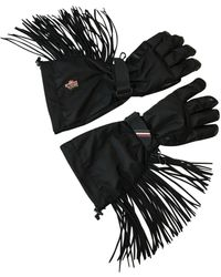 Moncler Gants en Polyester Noir