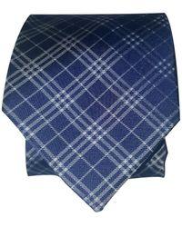 Burberry Seide Krawatten - Blau