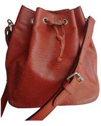 Louis Vuitton Noé Brown Leather Handbag