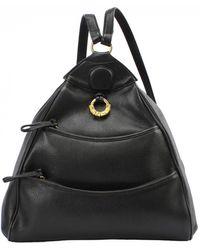 Lancel Leather Backpack - Black