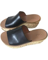 Chloé - Pre-owned Camille Black Leather Sandals - Lyst