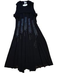 Noir Kei Ninomiya Mid-length Dress - Black