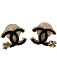 Chanel Cc Earring - Black