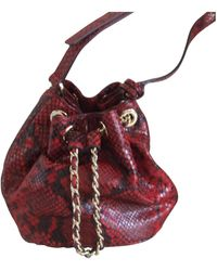 Michael Kors Jules Red Water Snake Handbag