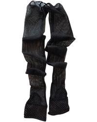 Chanel Black Leather Gloves