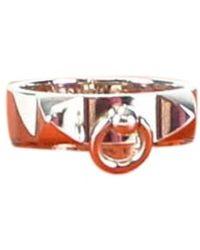 Hermès Anillo en plata plateado Collier de chien - Multicolor
