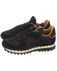 Valentino Rockstud Sneakers - Schwarz