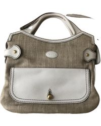 Tod's Tweed Satchel - White