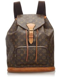 Louis Vuitton Montsouris Brown Cloth Backpacks