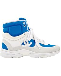 Chanel Blue Polyester Sneakers