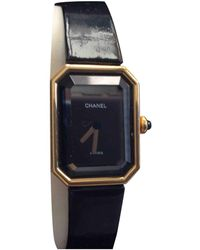 Chanel Montres Première en Or jaune Noir