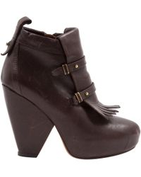 Vanessa Bruno - Brown Leather Ankle Boot - Lyst