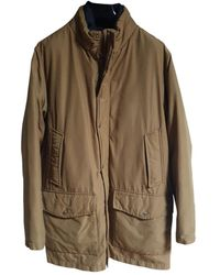 Woolrich Beige Leather Coat - Natural