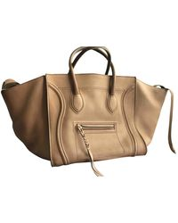 Céline luggage Phantom Brown Leather Handbag