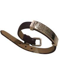 Marc By Marc Jacobs Purple Leather Bracelets