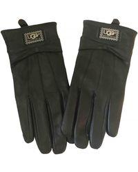 UGG Leather Gloves - Black