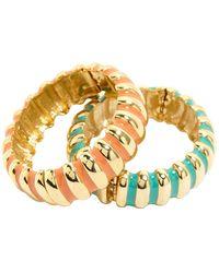 Kenneth Jay Lane Gold Metal Bracelet - Metallic