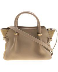Nina Ricci \n Beige Leather Handbag - Natural