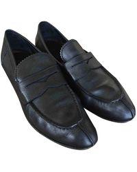 Louis Vuitton Leather Flats - Black