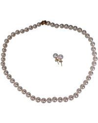 Tiffany & Co. Parures en Perles Blanc