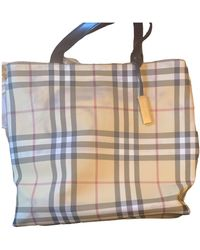 Burberry Cloth Handbag - Multicolor